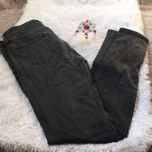 Uniqlo Distressed Black Jeggings